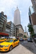 new york city manhattan fifth avenue 5th av us - stock photo