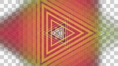 Retro triangle colors with alpha  Stock Footage