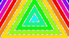 Colorful triangle stripes with alpha  Stock Footage