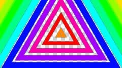 Rainbow trigonal stripe with alpha  Stock Footage