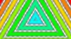 Colorful triangle pipe with alpha  Stock Footage
