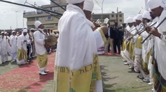 Timket,  the Ethiopian Orthodox celebration of Epiphany Stock Footage