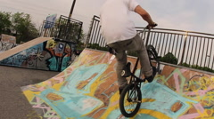 BMX Crash -  Can-Can FootJam - Extreme Sports - stock footage