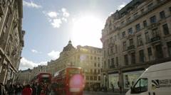 London regent street near oxford circus Stock Footage