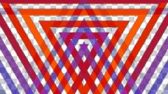 Triangle mirror stripe with alpha  Stock Footage