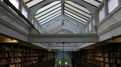 Inside old library in london Stock Footage