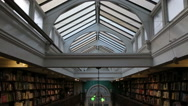 Stock Video Footage of inside old library in london