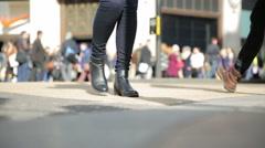 Oxford circus london traffic Stock Footage