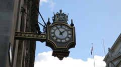 Old clock and architecture near bank station london Stock Footage