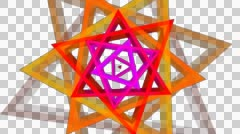 Triangle twist color with alpha  Stock Footage