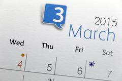 text on calendar show in monthly of 2015. - stock photo