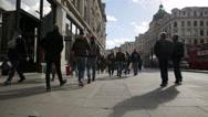 Stock Video Footage of london regent street near oxford circus