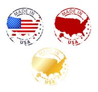 Made in usa stamp Stock Illustration