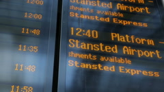 Information board liverpool station london Stock Footage