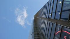 tall building in london with blue sky - stock footage