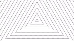 Trigonal white stripes Stock Footage