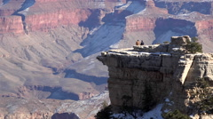 Grand Canyon beautiful lookout friends on point HD 086 Stock Footage