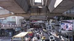 Skywalk Bangkok Stock Footage