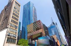west manhattan new york city nyc at us - stock photo