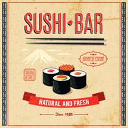 Asian Food Poster Stock Illustration