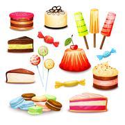 Stock Illustration of Sweet Food Set