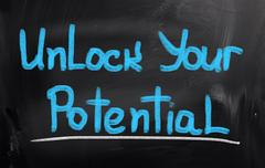 Unlock your potential concept Stock Illustration