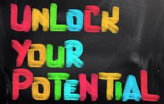 Unlock your potential concept Piirros