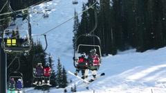 Ski resort Stock Footage