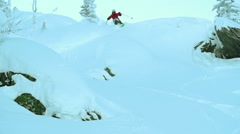 Expert Skier - stock footage