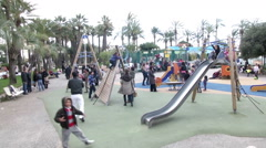 Kids And Playing Field in Cannes France Stock Footage