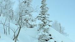 Extreme Skier Stock Footage