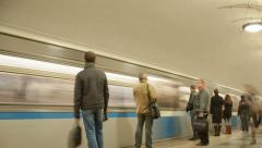 Subway station timelapse Stock Footage