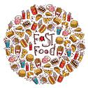 Stock Illustration of Fast Food Circle