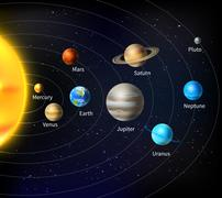 Solar System Background - stock illustration