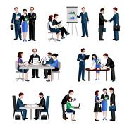 Stock Illustration of Teamwork Icons Set