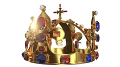 Royal crown with jewelry decoration looped rotate - stock footage