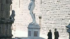 Florence 1950s: Piazza della Signoria Stock Footage