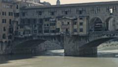 Florence 1950s: Ponte vecchio Stock Footage