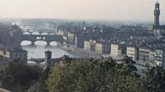 Florence 1950s: the cityscaper - stock footage