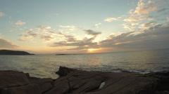 Thunder Hole Sunrise Fisheye Stock Footage