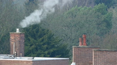 Steam rising from a chimney pot. Stock Footage