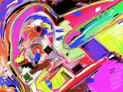 Abstract art digital painting Stock Illustration