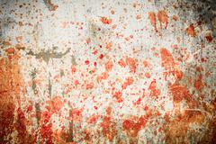Concrete wall with blood splatters Stock Photos