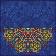 Stock Illustration of round pattern in ukrainian oriental ethnic style