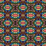 seamless geometry vintage pattern - stock illustration