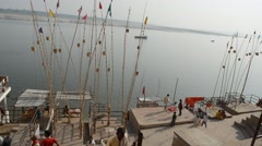 Varanasi - Holy River Ganges Stock Footage