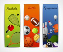 Stock Illustration of Sports vertical banners