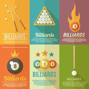 Billiards Poster Set Piirros