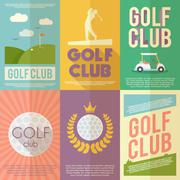 Golf Poster Set Stock Illustration