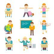 Children At School Piirros